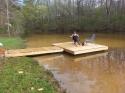 Dock on UrbanPondGuy's pond