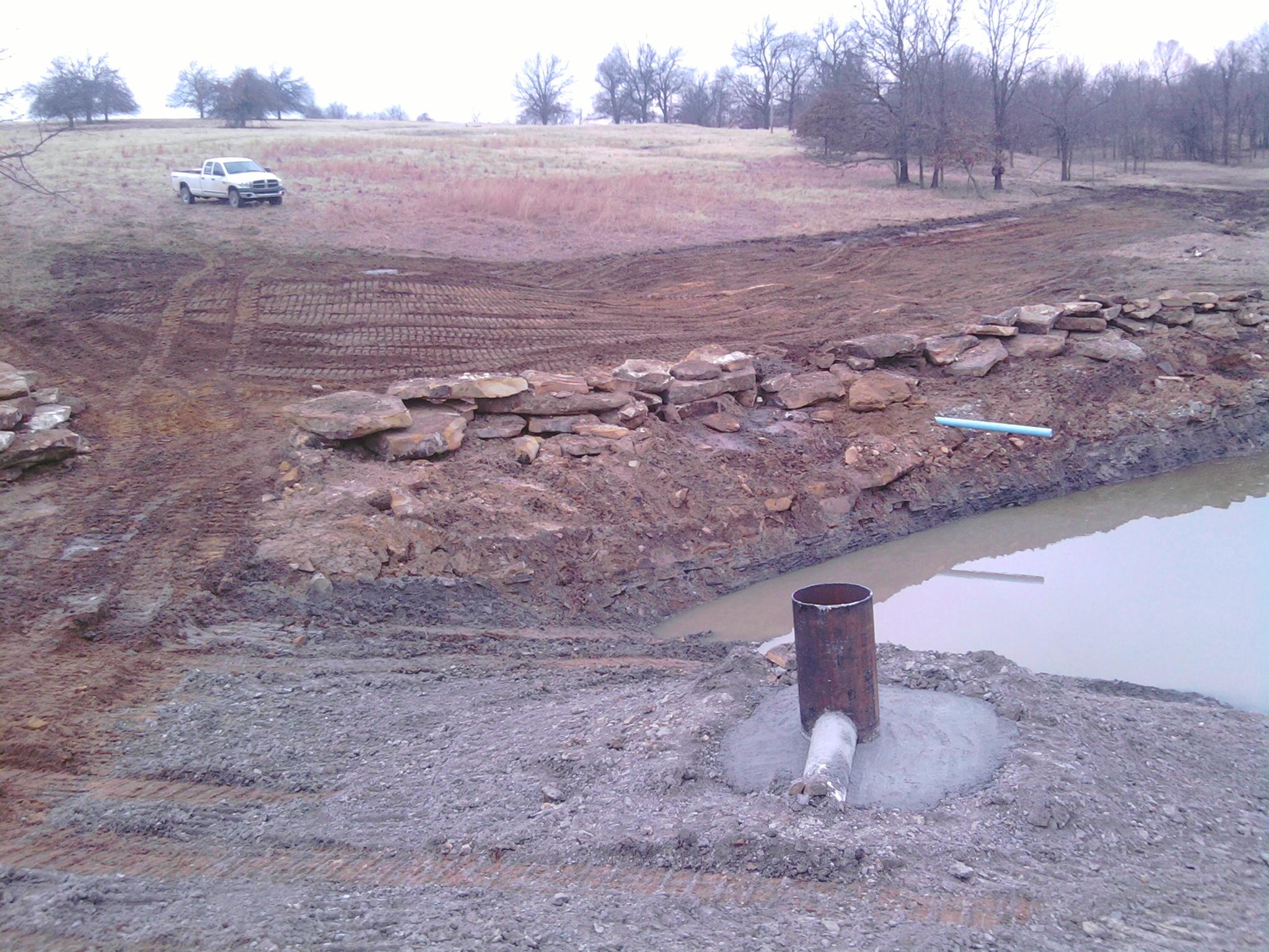New pond pics building a dam pond boss forum for Pond pump setup