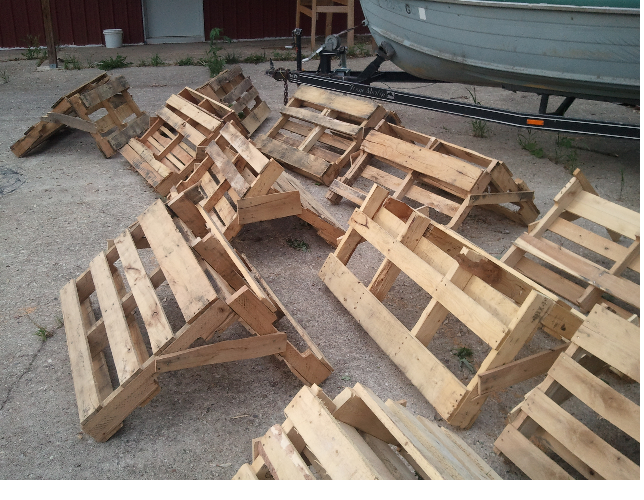 Pallets creating habitat pond boss forum for Fish pond structure