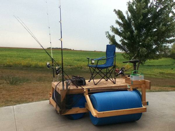 Spring floating fishing dock project property projects for Floating fishing chair