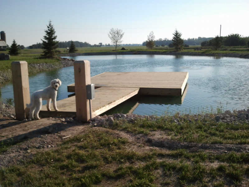 Guidance for building a floating dock property projects for Building a 1 acre pond