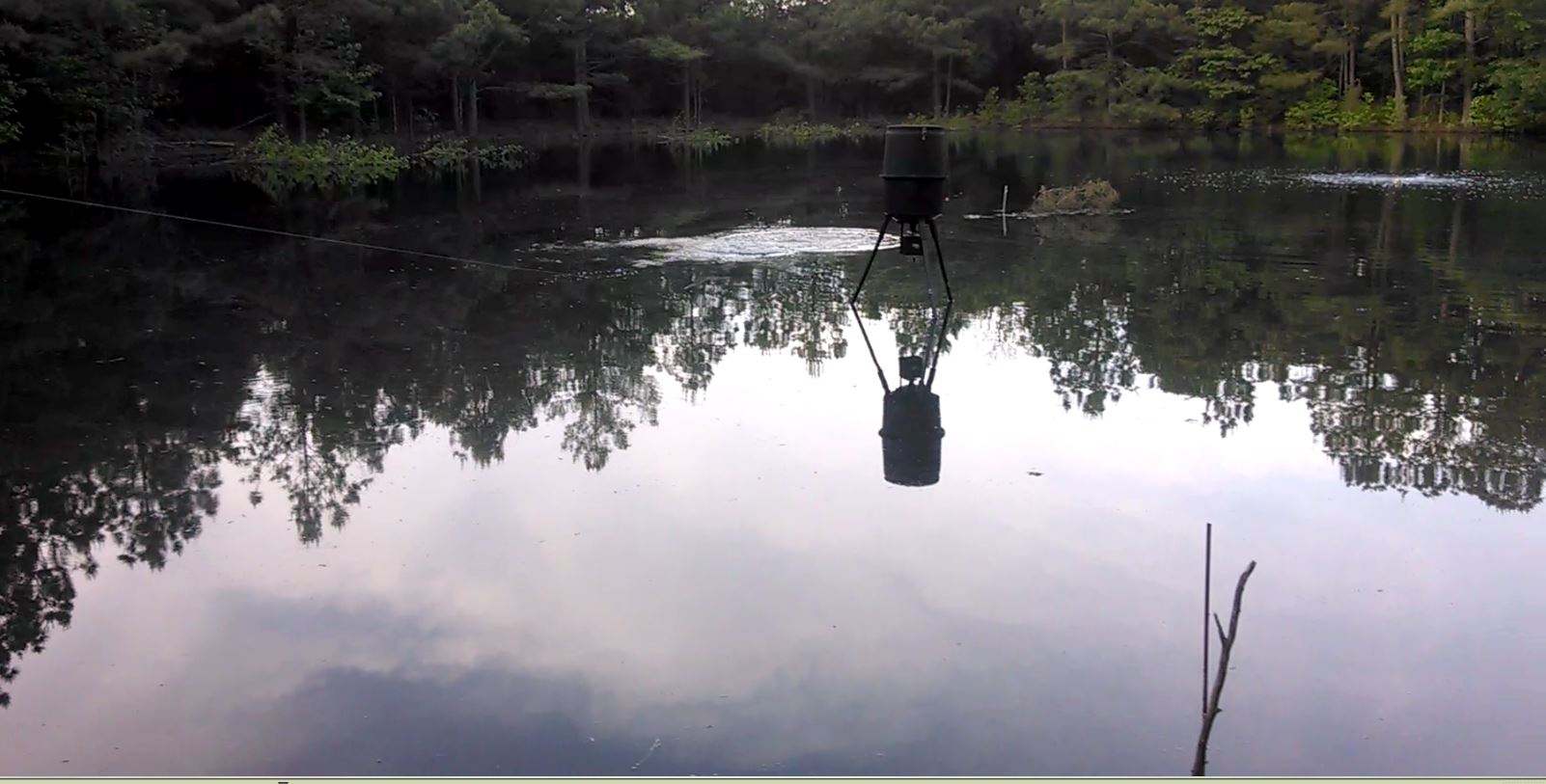 fish d side feeder pond tilt dam directional products all a m